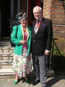 7 Chairman of Suffolk County Council Cllr Christopher Hudson & Mrs Ann Hudson