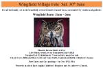Wingfield Village Fete 2018