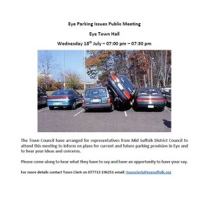 Eye Parking Issues Public Meeting - poster.