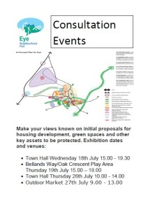 Neighbourhood Plan Consultation Poster for July 18