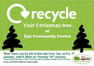 Recycle your Xmas tree.