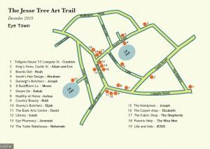 Jesse Tree Art Trail map